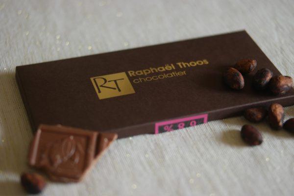 Plaque fourée de chocolat